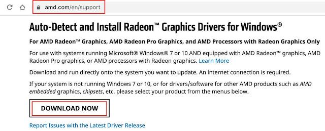 استخدام برنامج من موقع AMD لتعريف كارت الشاشة