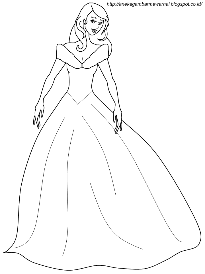 Gambar Mewarnai Cinderella Untuk Anak PAUD dan TK 1