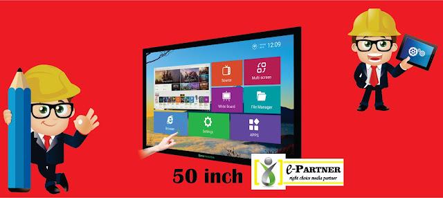 rental tv touchscreen untuk pameran