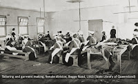 Tailoring and garment making, Female Division, Boggo Road Gaol, c.1913.