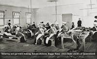 Tailoring and garment making, Female Division, Boggo Road Gaol, c.1913.
