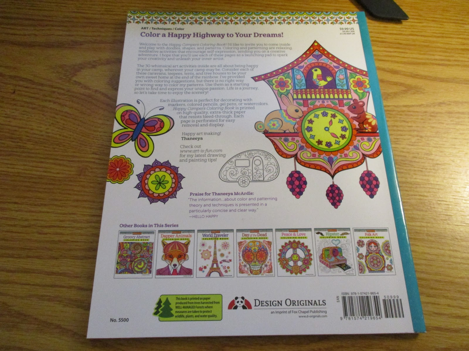 Missys Product Reviews Happy Campers Coloring Book By Thaneeya McArdle