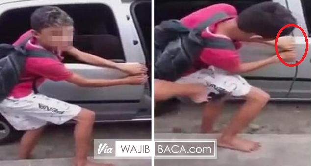 Tangan Seorang Bocah Hancur Terbanting Pintu Mobil Karena Terpergok Mencuri, Asli Ngilu!