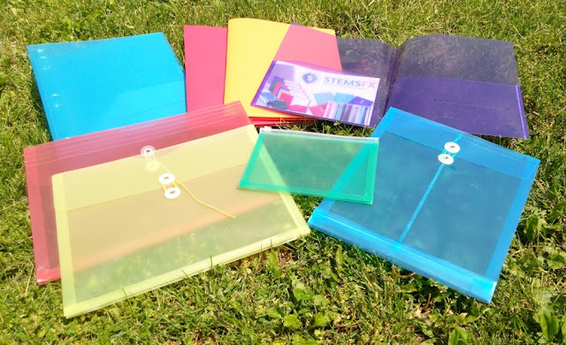 Colorful Plastic Folders Envelopes for School Teachers