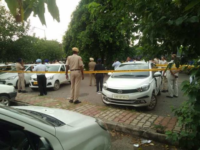 Firing in Sector 17 Chandigarh Video, One Murdered & 1 Seriously Injured