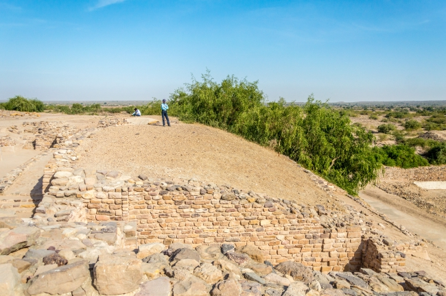 Outer wall of the Castle at Harappan site Dholavira