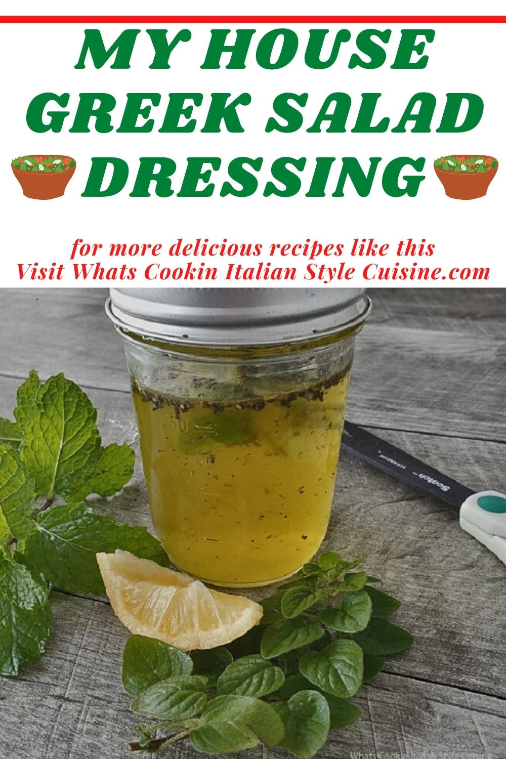 this is a pin for later on how to make homemade greek salad dressing