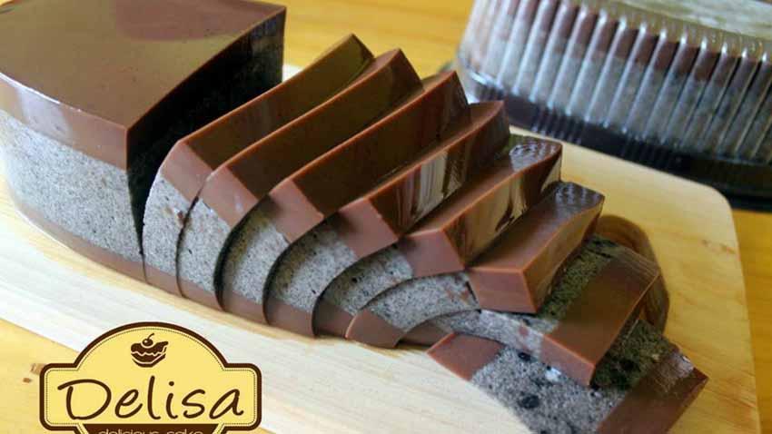 Resep Puding Lapis Coklat Oreo