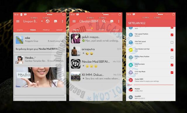 download BBM Mod Thema RedGrey Material Terbaru 2.12.0.11