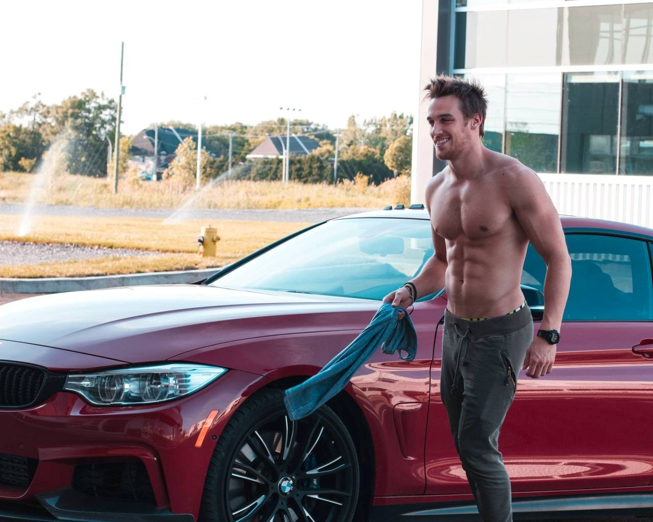 summer-carwash-brunette-marc-fitt-shirtless-abs