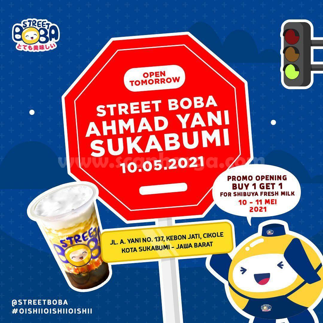 Street Boba Ahmad Yani Sukabumi Opening Promo Beli 1 Gratis 1