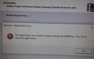 error instal dapodik