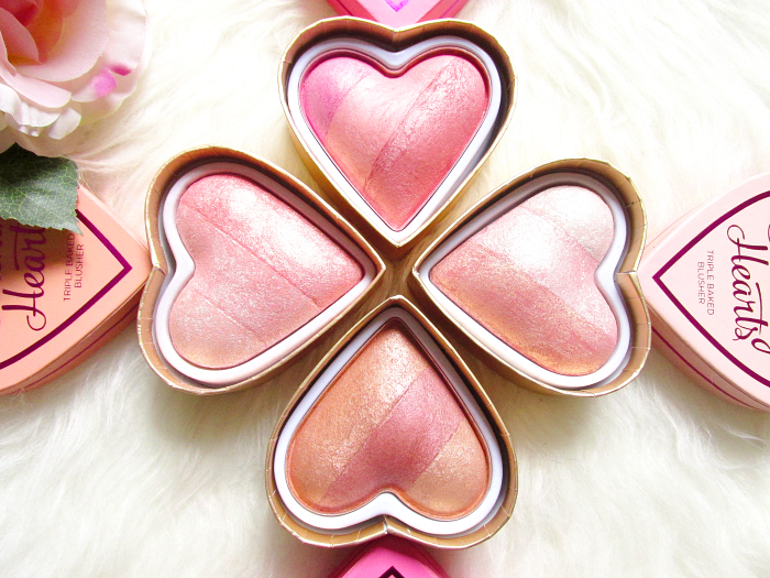 Review, Swatches & Photos: I Heart Makeup -  Blushing Hearts Triple Baked Blushers - Makeup Revolution - Peachy Pink Kisses - Candy Queen Hearts - Iced Hearts - Peachy Keen Heart