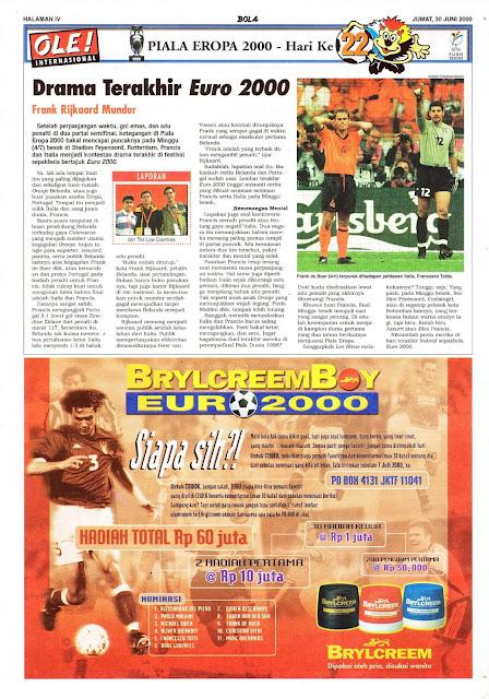 DRAMA TERAKHIR EURO 2000 FRANK RIJKAARD MUNDUR
