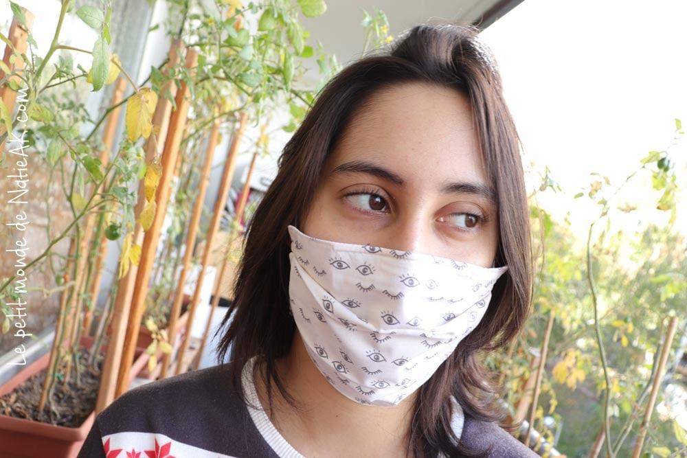 masque en tissu créateur français