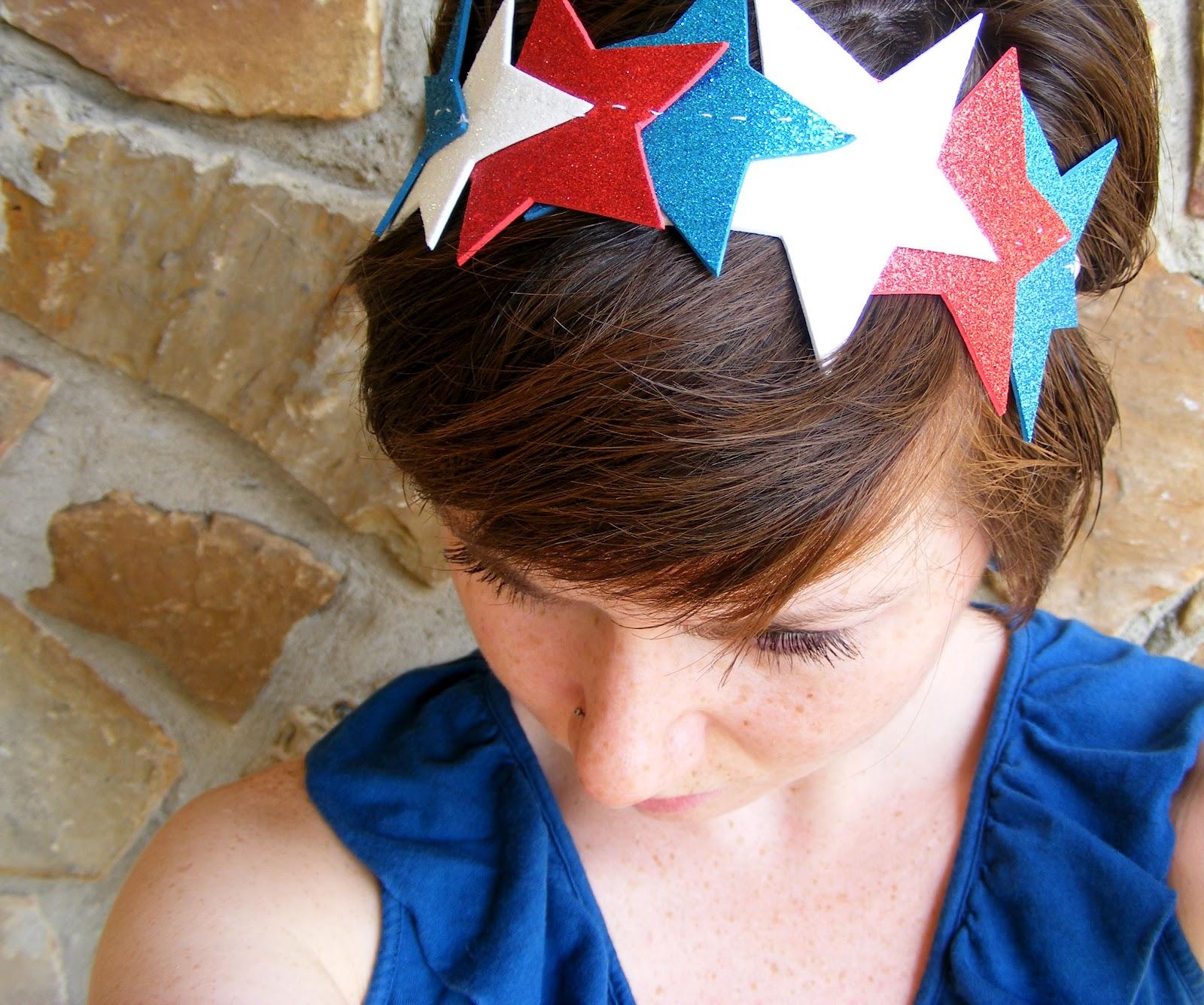 BEARSHAPED  DIY Fourth of July Headband 2627d2bf9a6
