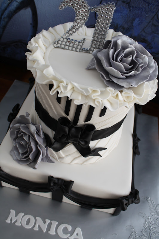 Sandy S Cakes Happy 21st Monica Black Amp White French