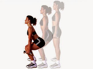 Dumbbell Squats exercise for butt