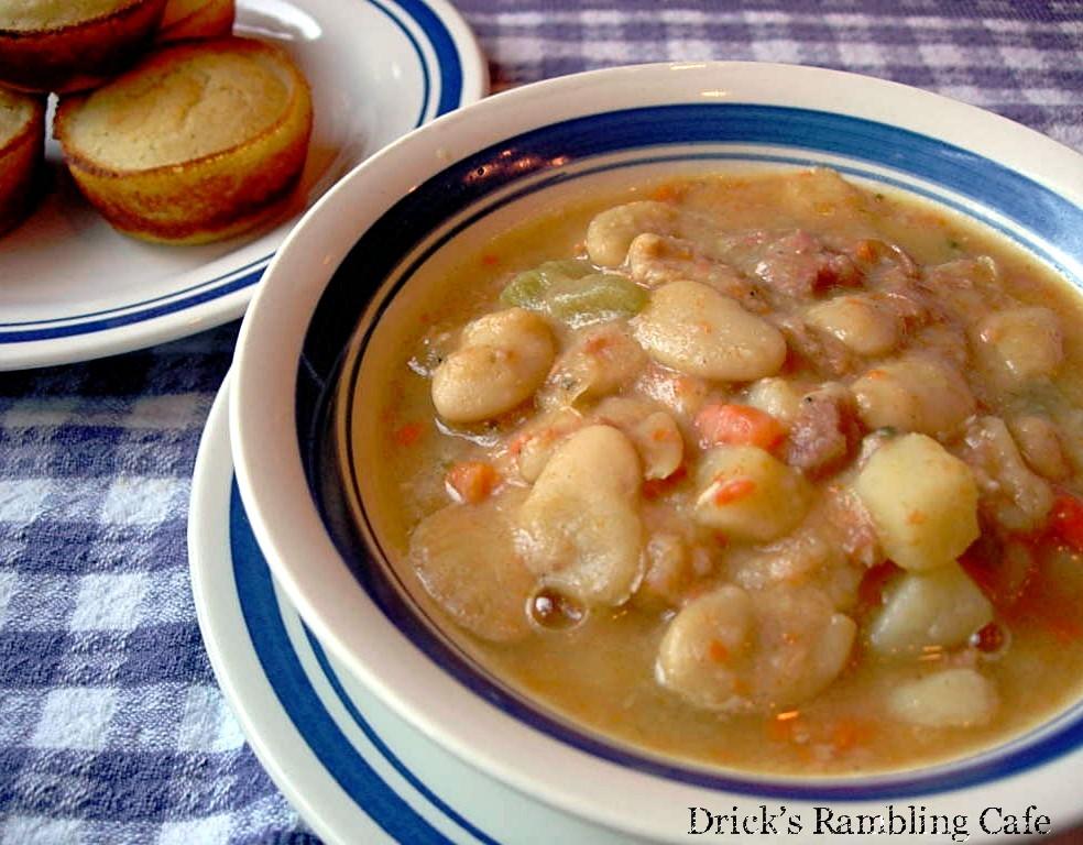 White Lima Bean Soup From Ham Bone Stock Drick S