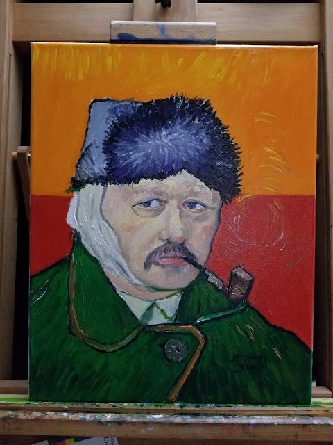 A self portrat after Van Gogh's