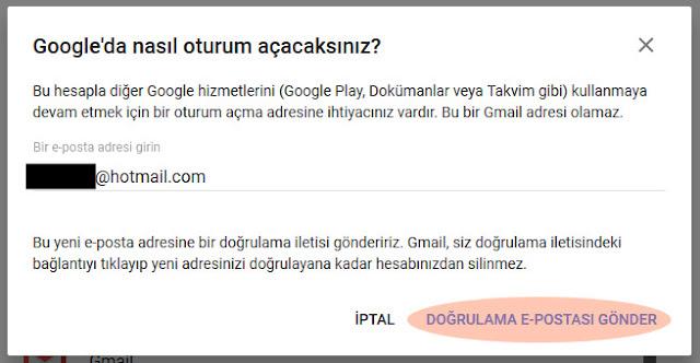 gmail doğrulama