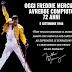 Oggi Freddie Mercury avrebbe compiuto 72 anni