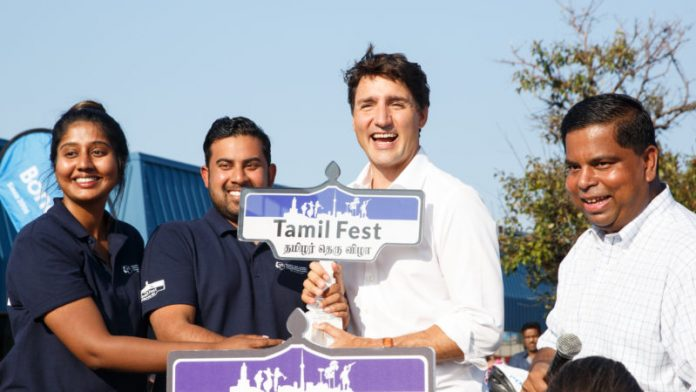 Justin Trudeau Tamil
