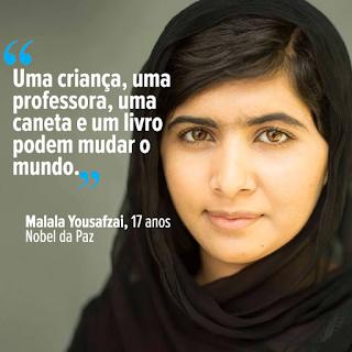 Malala Yousafzai - Trecho do discurso de premiação do Nobel da Paz