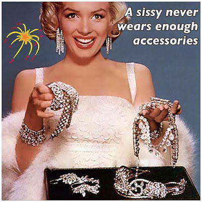 A Sissy never wear enough accessories TG Caption - Candi's Place TG Captions - Crossdressing and Sissy Tales and Captioned images