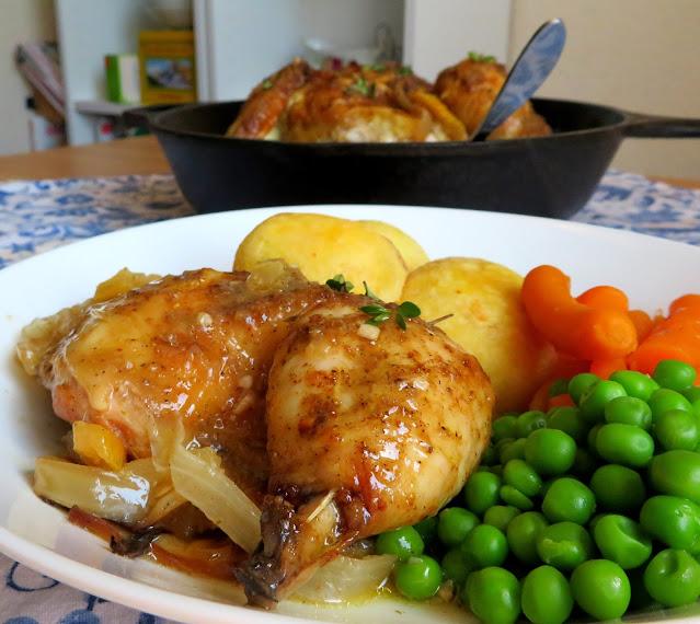 Ina's Skillet Roasted Lemon Chicken