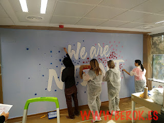 Taller de graffiti decoración oficina