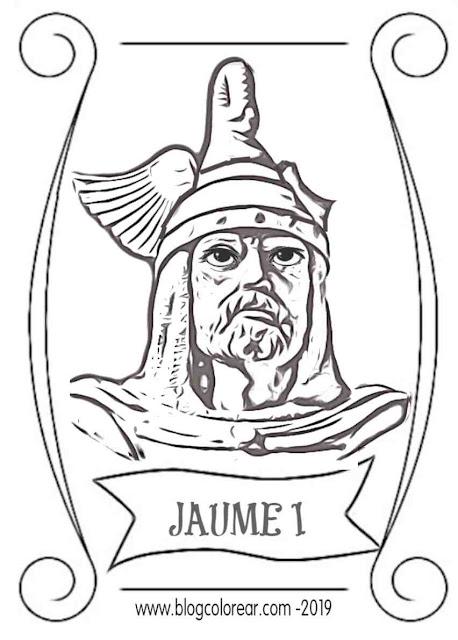 Jaume I dibujos para colorear