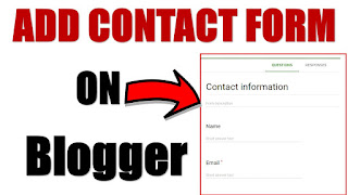 How to add contact form