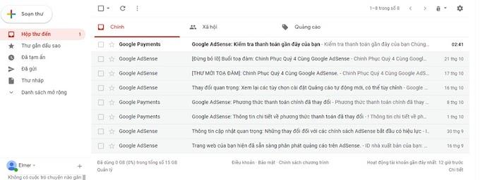 Khi nào thì google gửi tiền về tài khoản từ adsense