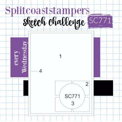 Splitcoaststampers Sketch Challenge SC771