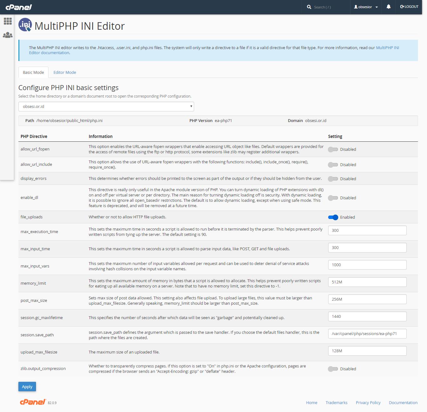 cara mengatasi error upload file pada ojs