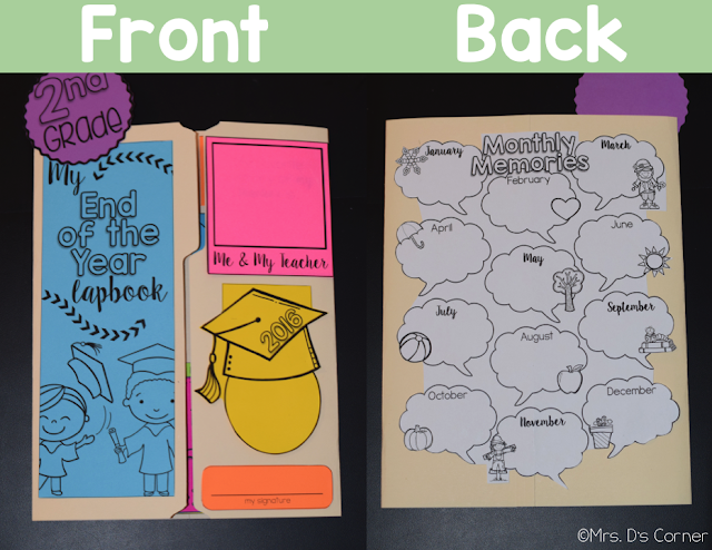https://www.teacherspayteachers.com/Product/End-of-the-Year-Lapbook-Memory-Book-Grades-K-through-6-16-Foldables--1213291