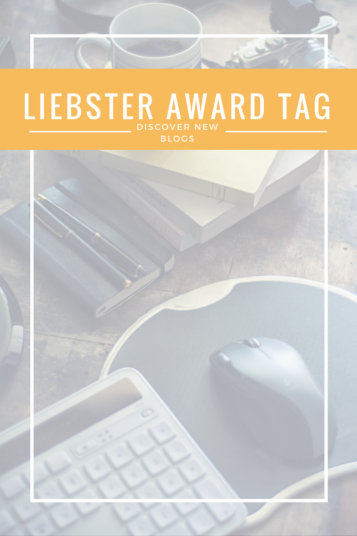 A new tag post is going around, the Liebster Award. What a wondeful way to get to know the blogger behind the blog and find new blogs to get to know too!