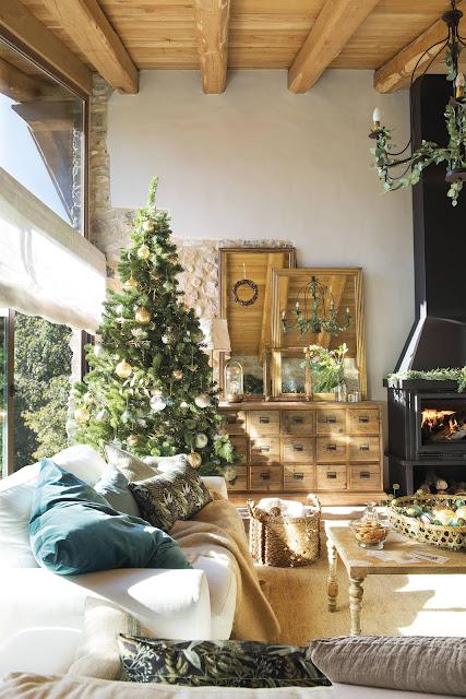 Новогодний декор. Деревенское Рождество в горном доме