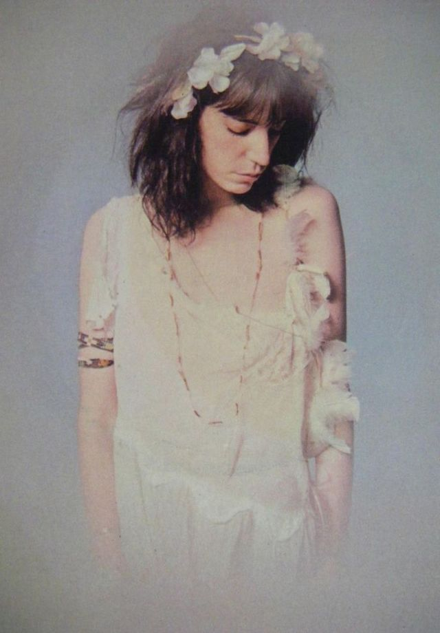 Wonderful Color Photos Of Patti Smith In White Dresses