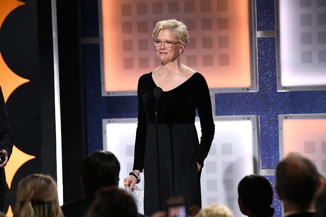 Annette Bening accepts Career Achievement onstage during AARP The Magazine's 19th Annual Movies For Grownups Awards at Beverly Wilshire, A Four Seasons Hotel on January 11, 2020 in Beverly Hills, California.