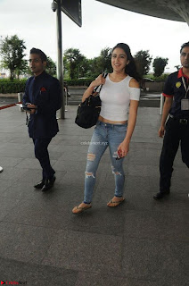 Sara Ali khan Daughter of Saif Ali Khan Spotted in White T Shirt at Airport ~  Exclusive Picture Galleries 003.jpg