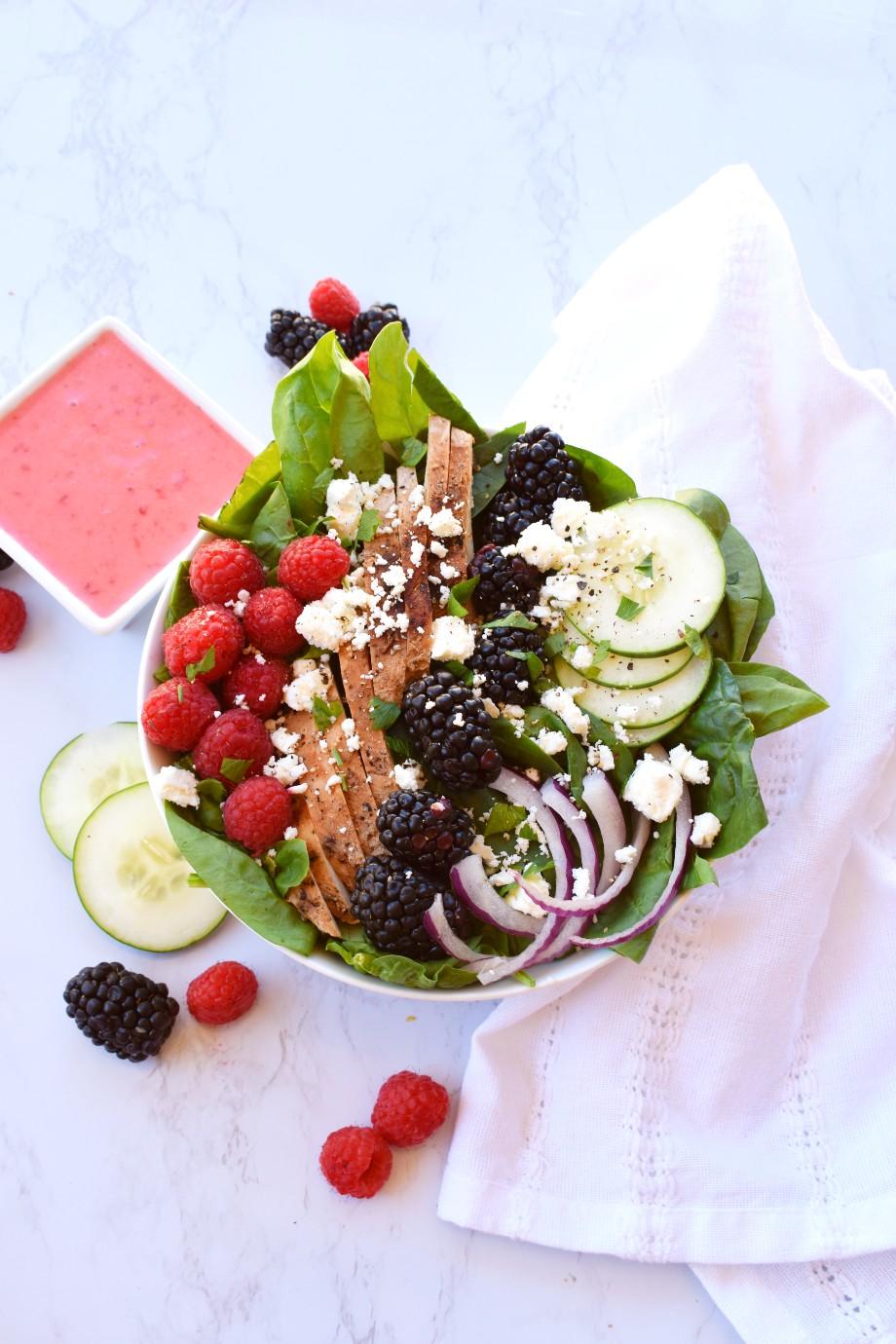 Berry Grilled Chicken Salad