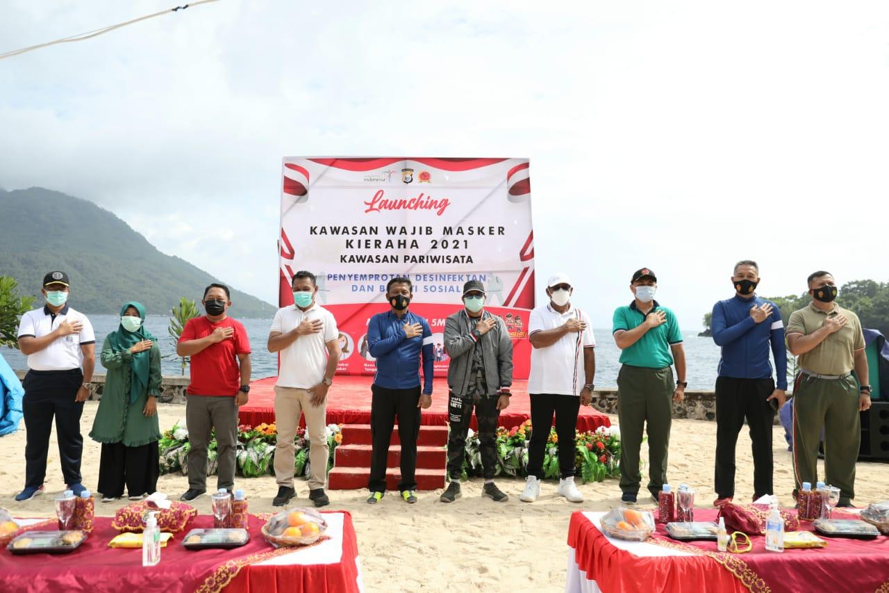 Objek Pariwisata Di Maluku Utara Resmi Berlakukan Kawasan Wajib Masker Koranmalut Co Id
