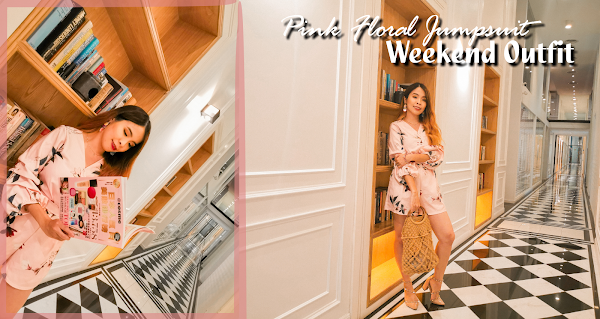 Pink Floral Jumpsuit Weekend Outfit