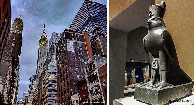 Nova York: entardecer na Lexington Avenue e a Coleção Egípcia do Metropolitan Museum