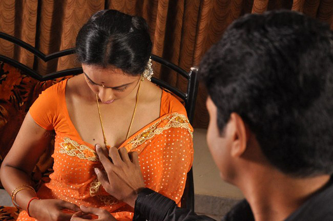 Tamil boob press bed scene