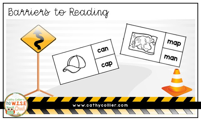 Barriers to Reading: Students who do not read the whole word can have errors in comprehension and syntax. Here are 2 activities for emergent readers.