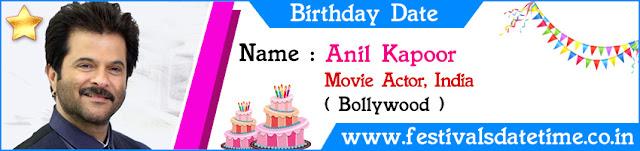 Anil Kapoor Birthday Date