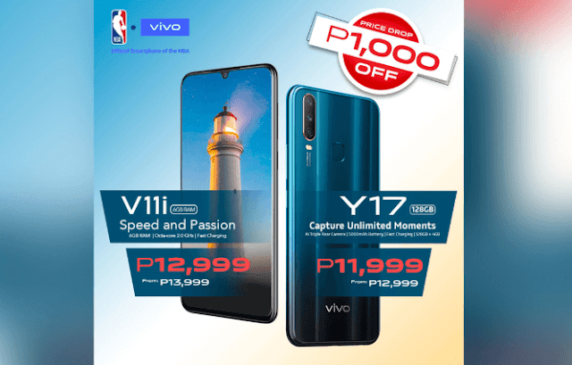 Vivo V11i and Vivo Y17 gets a price drop!